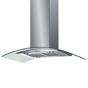 Stainless Steel Curved Glass Island Chimney Hood - 90cm 1