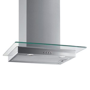 Stainless Steel Flat Glass Hood - 60cm 1