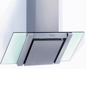 Stainless Steel Angled Glass Hood - 90cm 1