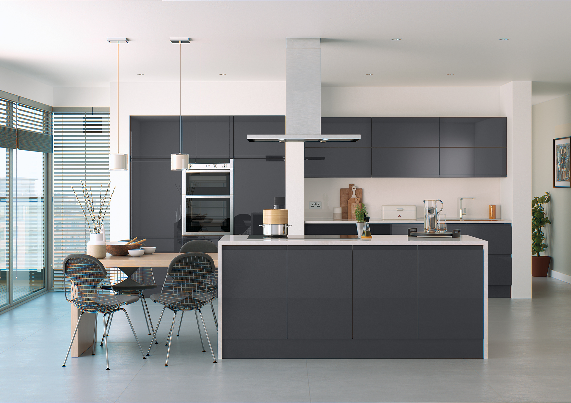 Lafina gloss anthracite kitchen