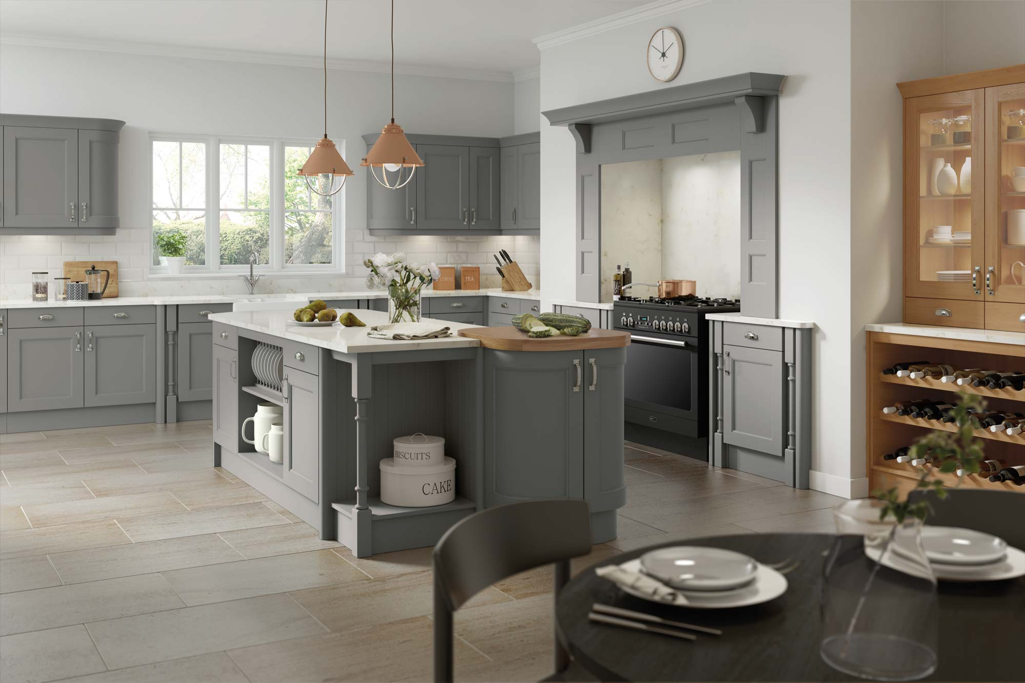 windsor dust grey kitchen